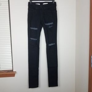 UO Silence + Noise High Rise Twig Distress Jeans